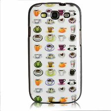 Cute and Fun Coffee Cups Mugs TPU Gel Fitted Case Cover For Samsung Ga