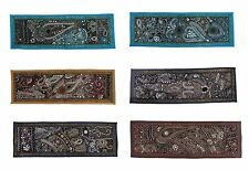 "Beaded Kundan Vintage Tapestry Wall Hanging Decor Wholesale Lot 5 PC 30X10"" RRRs"