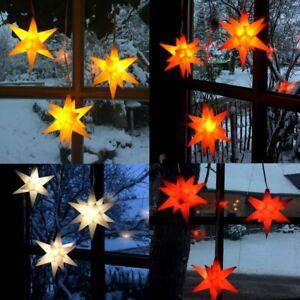 Pagoda STARLED Adventsstern Weihnachtsstern 3er Set Kleine Sterne - viele Farben