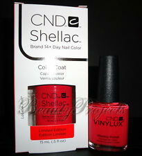2pc CND Shellac Gel & Vinylux Lobster Roll #122 Duo Nail Polish LARGE SIZE .5oz