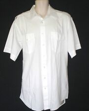 SALVATION ARMY (PILOT) WHITE UNIFORM SHIRT MEN`S TALL SIZE 16 1/2 S/S  USED USED
