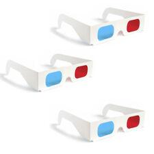 3 Pack 3D Glasses Red Blue Paper Cardboard
