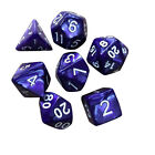 7pcs/set Pearl Multi sided dice D4 D6 D8 D10 D12 D20 Dungeons D&D RPG Warhammer