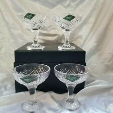 Vintage Shannon Crystal Design of Ireland Champagne Coupes Set of 4
