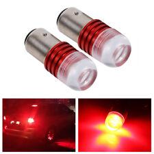 2Pcs Red 1157 2357 Strobe Flashing LED Bulbs Parking Tail Stop Brake Light BT