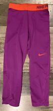 Nike Pro Dri-Fit Purple Compression Tight Yoga Exercise Pants Womens Xs