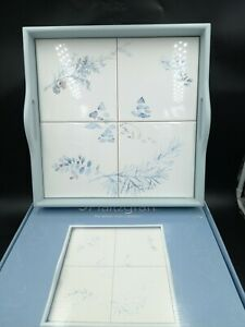 PFALTZGRAFF WINTER FROST WOOD & TILE SERVING TOTE  TRAY