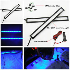 Auto SUV 12V Charge Interior Floor Decorative Blue COB LED Atmosphere Light Bar