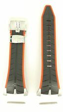 Original Seiko F1 Honda Racing Team 7T82-0AF0 Watch Band SPC009 Black Red Strap