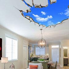 3D Blue Sky Broken Ceiling Removable Wall Stickers Art Vinyl Decals Decors HA