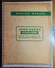 John Deere Custom Powr Trol For 520 620 720 820 Tractor Service Manual Sm 2022