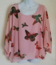***PLUS SIZE BUTTERFLY PRINT BATWING TOP - SIZE 16***