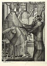 Hermann Naumann-la traición del Judas-federlithografie 1959