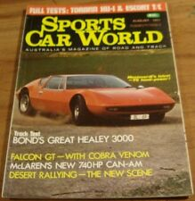 1971.Sports Car World.TORANA GTR XU-1.Ford 351 GT.HEALY 3000.ESCORT.MONTEVERDI