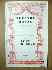 Theatre Royal, OLD VIC COMPANY 1953- LOVE FOR LOVE by William Congreve
