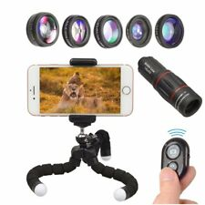 Professional 8 in 1 Mobile Phone Camera Lens Photo Kit Telescope Remote Shutter