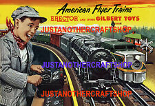 Gilbert American Flyer Trains 1953 Large A3 Size Poster Advert Shop Sign Leaflet