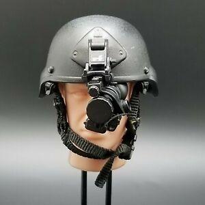1//6th Scale GI Joe  Black Police Helmet