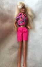 Mattel 1975 Barbie Skipper Doll Swivel Waist Pink Flower Top Short Outfit