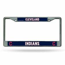 Cleveland Indians MLB Chrome Metal License Plate Frame