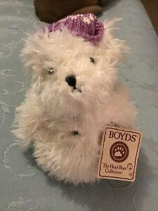 Boyds The Head Bean Collection Snowy Crystalfrost Bear