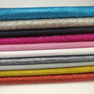 """Approx 54 """" Width Fine Glitter Fabric Sparkly  Fabric Cotton Crafts Material UK"""