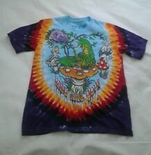 Alice in Wonderland Tie Dye T-shirt Size Small Liquid Blue 2014