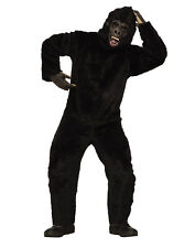 Gorilla Mens Adult Animal Monkey Black Mascot Halloween Costume-STD
