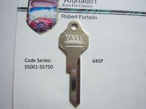 Key Blank for Studebaker ignition/doors 1964 1965 - Avanti 1964 up  (64SP)