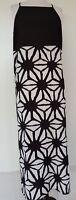 VINCE CAMUTO Black/White Maxi Dress Size M 8/10