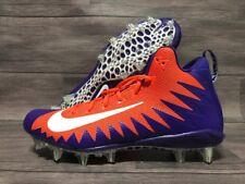Nike Alpha Menace Pro Mid Football Cleats Size 12 RARE Purple Orange 884527 811