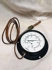 Jas P Marsh Temperature Gauge Usa With Copper Wire Probe Hardware Steampunk
