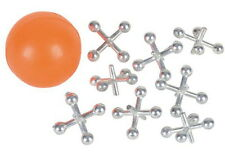 2 Sets Of Metal Jacks With Super Ball, Each Set In Polybag, Kids Love Classic