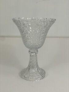 """Towle Czech Lead Crystal Centerpiece Trifle Pedestal Bowl Vase Large 14"""" /r"""