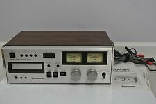 Vintage Panasonic RS-808 8 Track Stereo Tape Deck Player Recorder w/ Manual