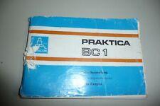 Instructions CAMERA PRAKTICA BC1 -  ORIGINAL INSTRUCTIONS