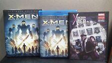 X Men Days of Future Past (3D+2D Blu-ray+Digital) Inc Comic & Slipcover LIKE NEW
