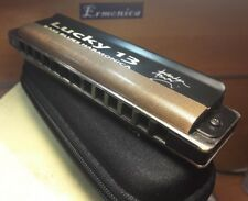 Key A. New professional custom bass harmonica Easttop Lucky 13.