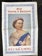 1954 Queen Elizabeth II State Opening of Parliament Souvenir Programme Royalty