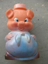 ANTIQUE vintage collectable Porky Pig Rubber Squeak toy doll ca 1950 year