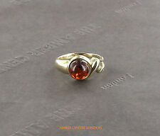 Italian Made Elegant Classic Baltic Amber Ring in 9ct Gold-GR0111 RRP£195!!!