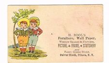 H Bool's Furniture Wall Paper Culver Block, Ithaca New York trade card