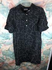 Dusen Dusen Black And White Rocks Dress Size Large Fits More Med/small