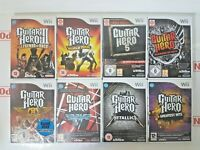 Guitar Hero Game Series (Wii) Solus - (game Only) *MULTI-LISTING*