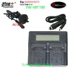 Dual Battery Charger for Panasonic VW-VBT190 VBT380 HC-V550 V750 V720G VW-VBL090
