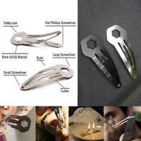 Multifunction women defense hairpin outdoor pocket tool screwdriver keyring FT