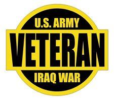 U.S. Army Iraq War Veteran Hard Hat Decal / Helmet Label / Sticker USMC ARMY USA