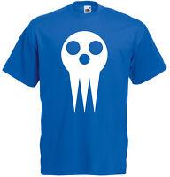 Skull Shield, Soul Eater Anime Manga Inspired Men's Printed T-Shirt Clothing