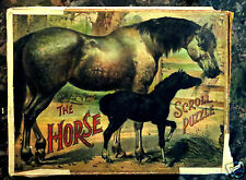 Original 1898 McLoughlin Brothers The Horse Scroll Puzzle