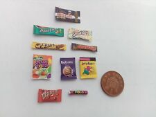 1/12 Scale Assorted Sweet packets set of 10 for Dollhouse miniatures **